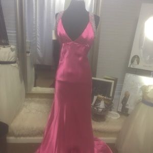 Dresses & Skirts - Satin Fuschia Formal
